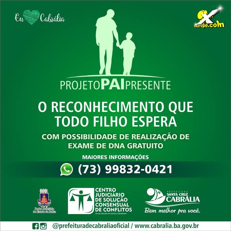 53ddf77c1f82d0 Programa Pai Presente e lançado em Cabrália > oXarope.com